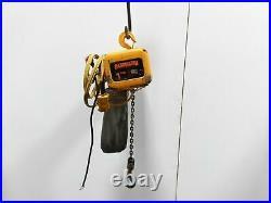 Harrington NER010L 1 Ton Electric Chain Hoist 14' Lift 14 FPM 480v