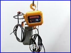 Harrington NER010L 1 Ton Electric Chain Hoist 18'6 Lift 14 FPM 460v