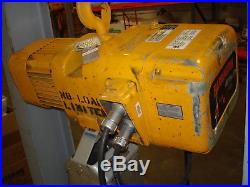 Harrington NER010L 1 Ton Size D Electric Chain Hoist