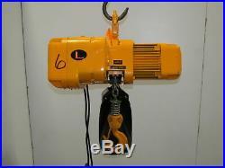 Harrington NER020L 2 Ton 4000 LB Electric Chain Hoist 12'6 Lift 14FPM 230/460V