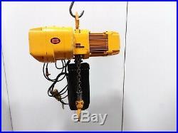 Harrington NER020S 2 Ton Electric Chain Hoist 17' Lift 28fpm 460v