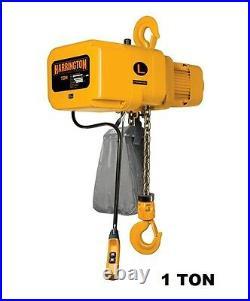 Harrington Ner Electric Chain Hoist, 1 Ton Capacity