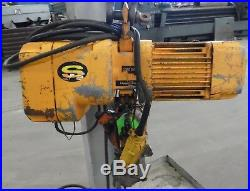 Harrington Ner005s Electric Chain Hoist 1/2 Ton (1000 Lbs), Size D, 25 Ft Lift