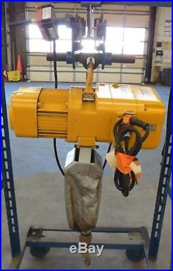 Harrington Ner010l Electric Chain Hoist 1 Ton (2000 Lbs), Size D, 15 Ft Lift