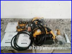 Harrington SEQP005SD-10 1 HP 10 Ft Hoist Lift 1000 Lb Load Cap 115V Chain Hoist
