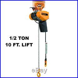 Harrington Seqp Electric Chain Hoist 1000 Lb Capacity, 10 Ft Lift