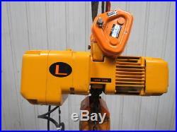 Harrington Size B NER005L 1/2 TON Electric Chain Hoist 10' Lift 460V 3Ph Tested