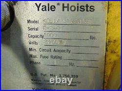 Industrial Yale Electric Chain Hoist 1/2 Ton With Trolley
