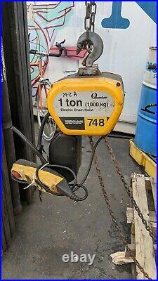 Ingersoll Rand 1Ton Chain Hoist Q50/-NS Quantum Series 240/460vac 3phase -Used