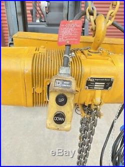 Ingersoll Rand HLF208 1 Ton Electric Chain Hoist With 2.25 HP Doerr Motor