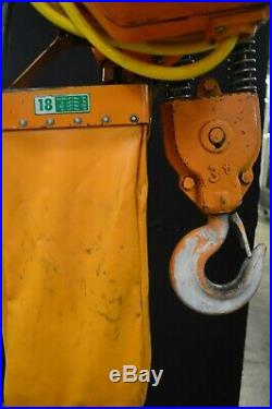Ingersoll Rand Model Se4-030H 3 Ton Electric Chain Hoist With Remote Pendant