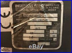 Ingersoll Rand Quantium Electric Chain Hoist, 1-Ton, Q50-2ND100H10-6-4, Crane