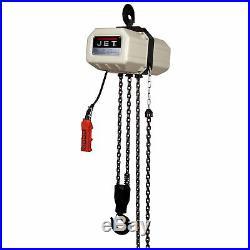 JET 1/2SS-1C-20 1/2 Ton Electric Chain Hoist 1Ph 20' Lift 115/230V Prewired 230V