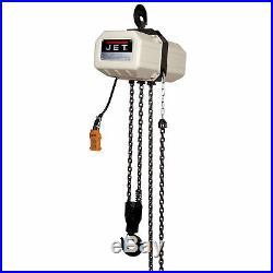 JET 2SS-3C-15 2 Ton Electric Chain Hoist 3Ph 15' Lift 230/460V Prewired 460V