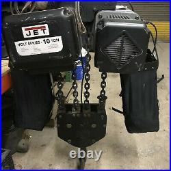 JET ELECTRIC 10 TON Chain Fall Hoist MO# VOLT-1000-13P