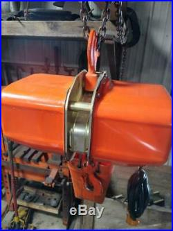 Jet 1 Ton 2000 lbs 110 Volts Electric Chain Hoist Shop Overhead Crane