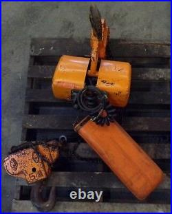 Jet Electric Chain Hoist 5 Ton 10ft. Lift Phase 3, Type 5bs, 1.34 Hp, 460 Volts