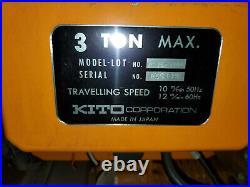 KITO 3 TON Electric Chain Hoist ESM025S