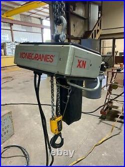 Konecrane 2 Ton Electric Chain Hoist, Model XN200015P16T2, 15 FT, 460-3-60V