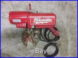 Milwaukee 2 Ton Electric Chain Fall Hoist Model 9572