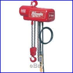 Milwaukee 9560 1/2 Ton Electric Chain Hoist 10 ft