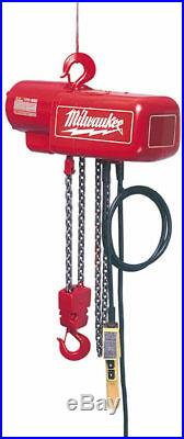 Milwaukee 9567 1 Ton Electric Chain Hoist 15 ft