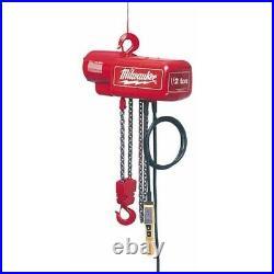 Milwaukee 9567 1 Ton Electric Chain Hoist 15 ft. (Seller Refurbished)