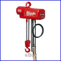 Milwaukee 9572 2 Ton Capacity 15-Foot Lift Electric Chain Hoist Bare Tool