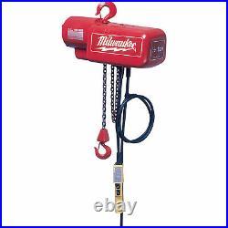 Milwaukee Electric Chain Hoist 1-Ton Capacity, 20Ft. Lift, Model# 9568 NEW