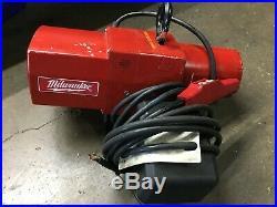 Milwaukee Professional Electric Chain Hoist- 1-Ton Capacity