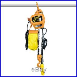 NEW Electric Chain Hoist 2200 lb. Electric Crane Hoist HD Super 1 Ton 10ft Lift