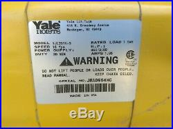 NEW Yale 1 Ton YJL2016 Electric Chain Winch Lifting Hoist YJL Three Phase