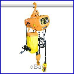 New 4400 lb Electric Chain Hoist, 10ft Lift Double Chain Electric Crane Hoist