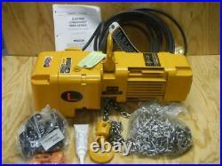 New HARRINGTON SNER005L-20 1000 lb 20 ft. Lift 230 Volt Single Phase Chain Hoist