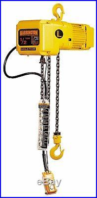 New Harrington 1/2 Ton Electric Chain Hoist 110 Volt