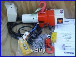 New Harrington ED250V-10 Chain Hoist, 250 lb. 120V, 10 ft. Hoist Lift 16/26 fpm