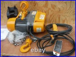 New Harrington H4 SEQ010SD-20 1 ton 20ft Lift 115 Volt 2 Speed Chain Hoist 2000