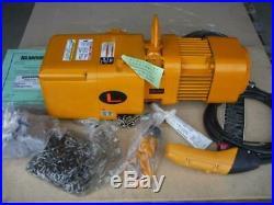 New Harrington NER005LD-10 Electric Chain Hoist 1000 lb 10 ft. Lift 460V 2 Speed