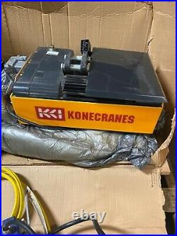 New Konecranes 2 Ton Electric Chain Hoist XN16-2-15M16T With Power Trolley