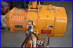 Nice Harrington 2 Ton Electric Chain Hoist ES3B-104 with 26 Ft of Lift 26 FPM