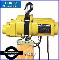 Pierce Arrow 1 Ton Electric Chain Hoist 120v. Heavy Duty