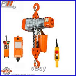 ProWinch 1 Ton Electric Chain Hoist 20 ft. G80 Chain Wireless 120V
