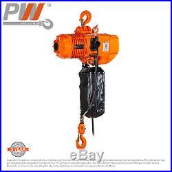ProWinch 1 Ton Electric Chain Hoist 2200 lbs. 20 Ft Heavy Duty G100 Chain M4/H3