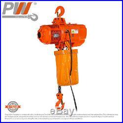 ProWinch 2 Ton Electric Chain Hoist 20ft G100 Chain M4/H3