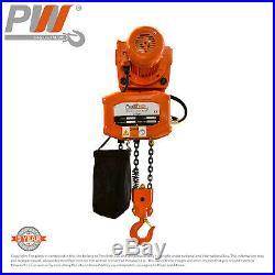 ProWinch 2 Ton Electric Chain Hoist Power Trolley 20 ft. FEC G80 Chain M3/H2