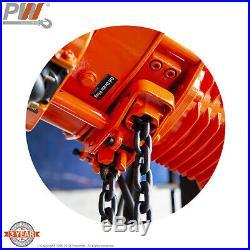 ProWinch 2 Ton Electric Chain Hoist Power Trolley 20 ft. G100 Chain M4/H3 230