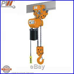 ProWinch 5 Ton Electric Chain Hoist Power Trolley 30 ft. G100 Chain M4/H3 220