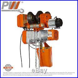 ProWinch Electric Chain Hoist Aluminum Power Trolley 2,200 lbs. 20 ft. G80 Ch