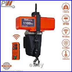 Prowinch 1/2 Ton Mini Electric Chain Hoist 1100 Lb 10 ft Chain 110V Wireless