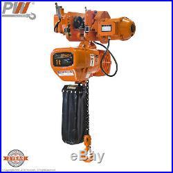 Prowinch 1 Ton Electric Chain Hoist Power Trolley 20 ft. G100 Chain M4/H3 208